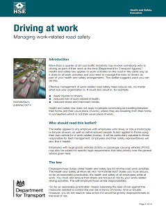 HSE Publication - Driving at work